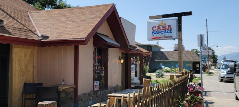 The sing for Casa Sanchez sits above the smaller restaurant on the way out of Buena Vista