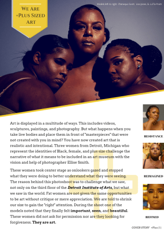 "+PLUS Magazine ""Plus Sized Art"" 2018"