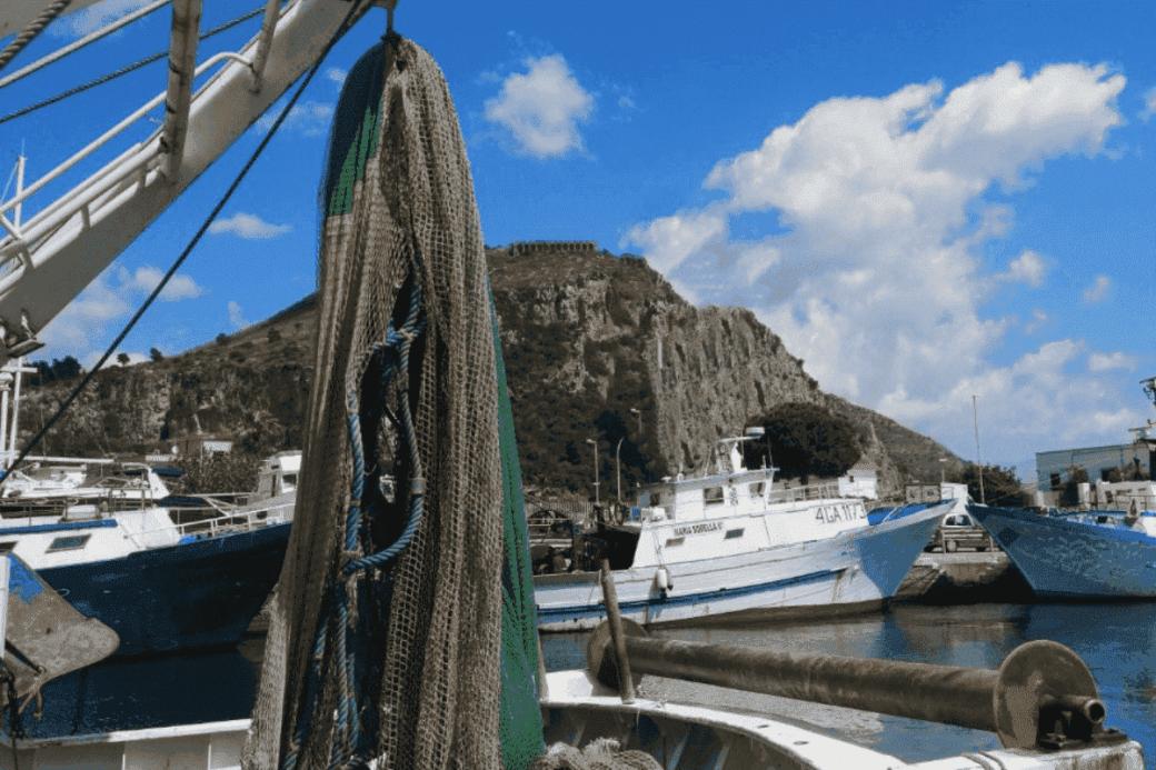 fishing for litter Terracina