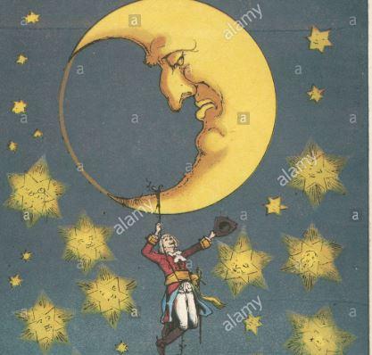 La mia Luna e quel brodo che non cade quando siamo a testa in giù