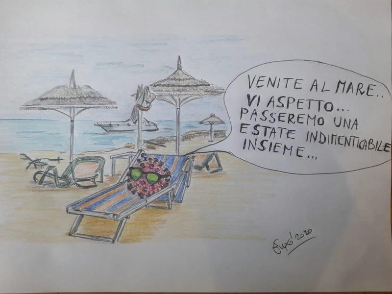 Vignetta di De Amicis/ Quel bagnante vicino così fastidioso che chiamiamo virus