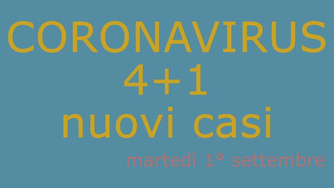 Covid 19 / Arriva settembre e il virus si calma, si registrano solo quattro nuovi contagi