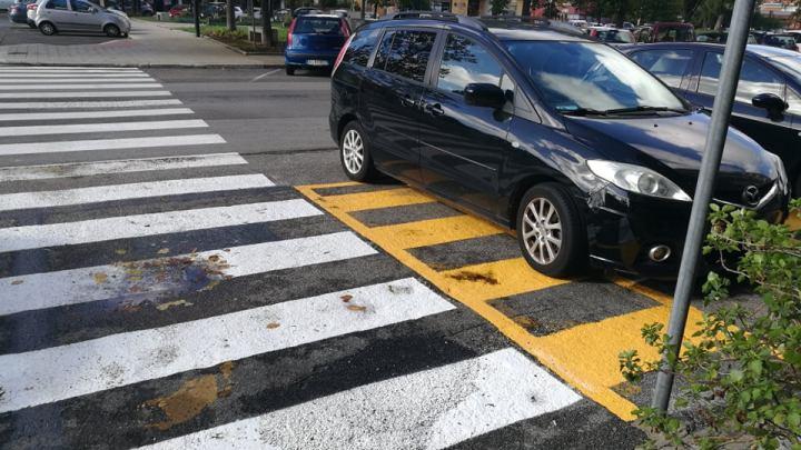 """Latina-Piazza Moro/ Strisce sulle fermate dei disabili il Comune ci """"passa"""" il bianchetto"""