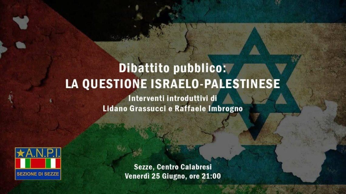 La questione israeliana: confronto Anpi a Sezze