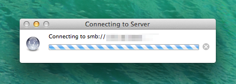 SMB Connection in Mavericks
