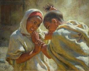 Étienne Dinet, La dispute, 1904, huile sur toile, au Musée des beaux-arts de Mulhouse, par Ji-Elle (Wikimedia Commons)