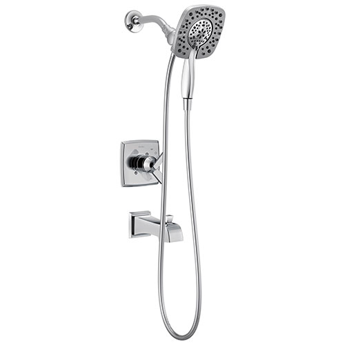 delta ashlyn in2ition 1 handle tub and shower faucet trim kit in chrome valve not included 685391
