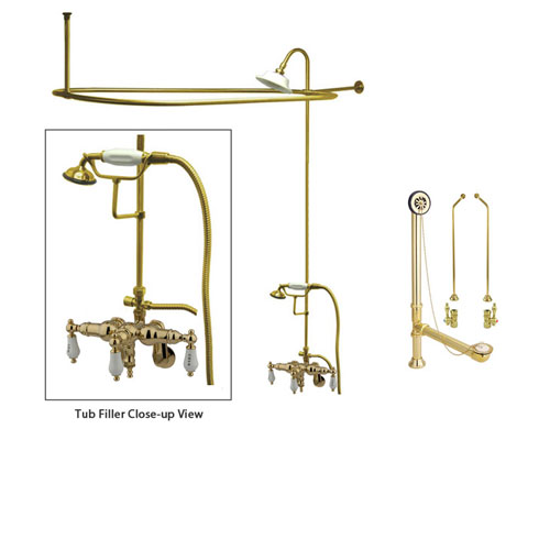 how to install a clawfoot tub shower