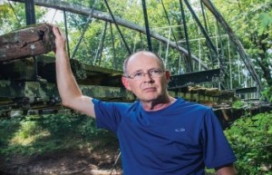 Kenneth Barnes, a member of the Faulkner County Historical Society, heads up the effort to save the Springfield-Des Arc Bridge, which was built in 1974 on the north branch of Cadron Creek, which separates Faulkner and Conway counties.