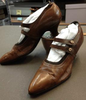 Shoes at the Faulkner County Museum, Faulkner County Arkansas