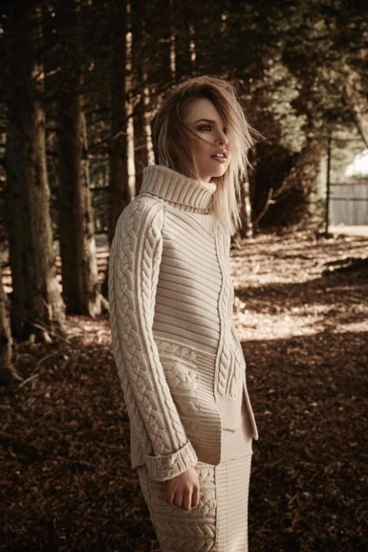 Knit wool jumper and maxi skirt: Joseph