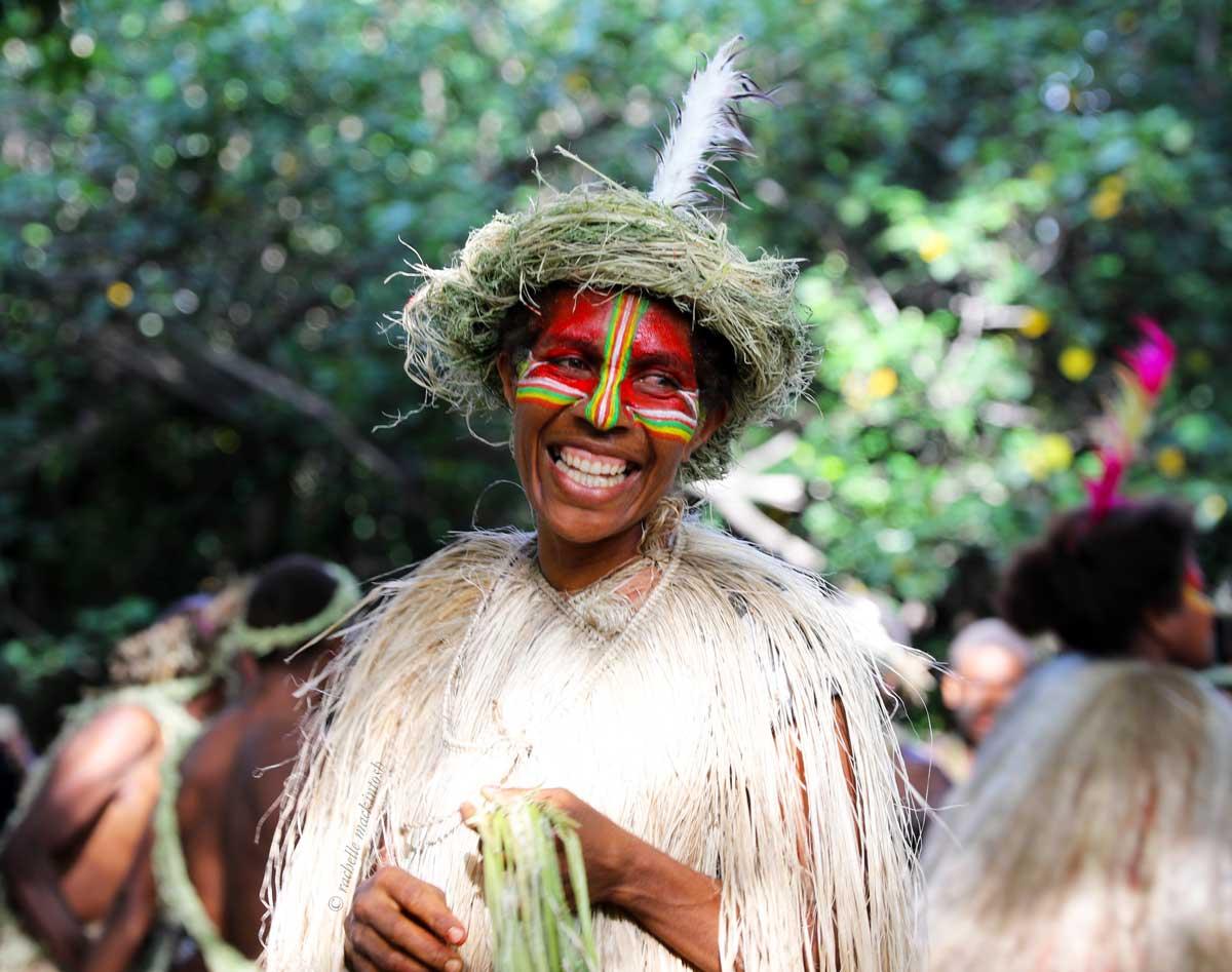 vanuatu woman yasur volcano blessing