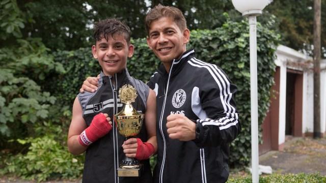 Janko und sein Vater und Trainer Janek Goman
