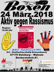Boxen gegen Rassismus @ Dreifachturnhalle | Duisburg | Nordrhein-Westfalen | Deutschland