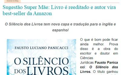 """Blog Super Mãe – Publica sobre a obra """"O Silêncio dos Livros"""""""