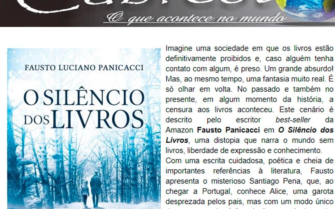 """Blog Cabresto – Publica sobre a obra """"O Silêncio dos Livros""""."""