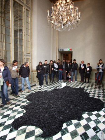 """Souvenirs"",2009,installation site-specific,mixed media, Palazzo Madama -Turin-Italy"
