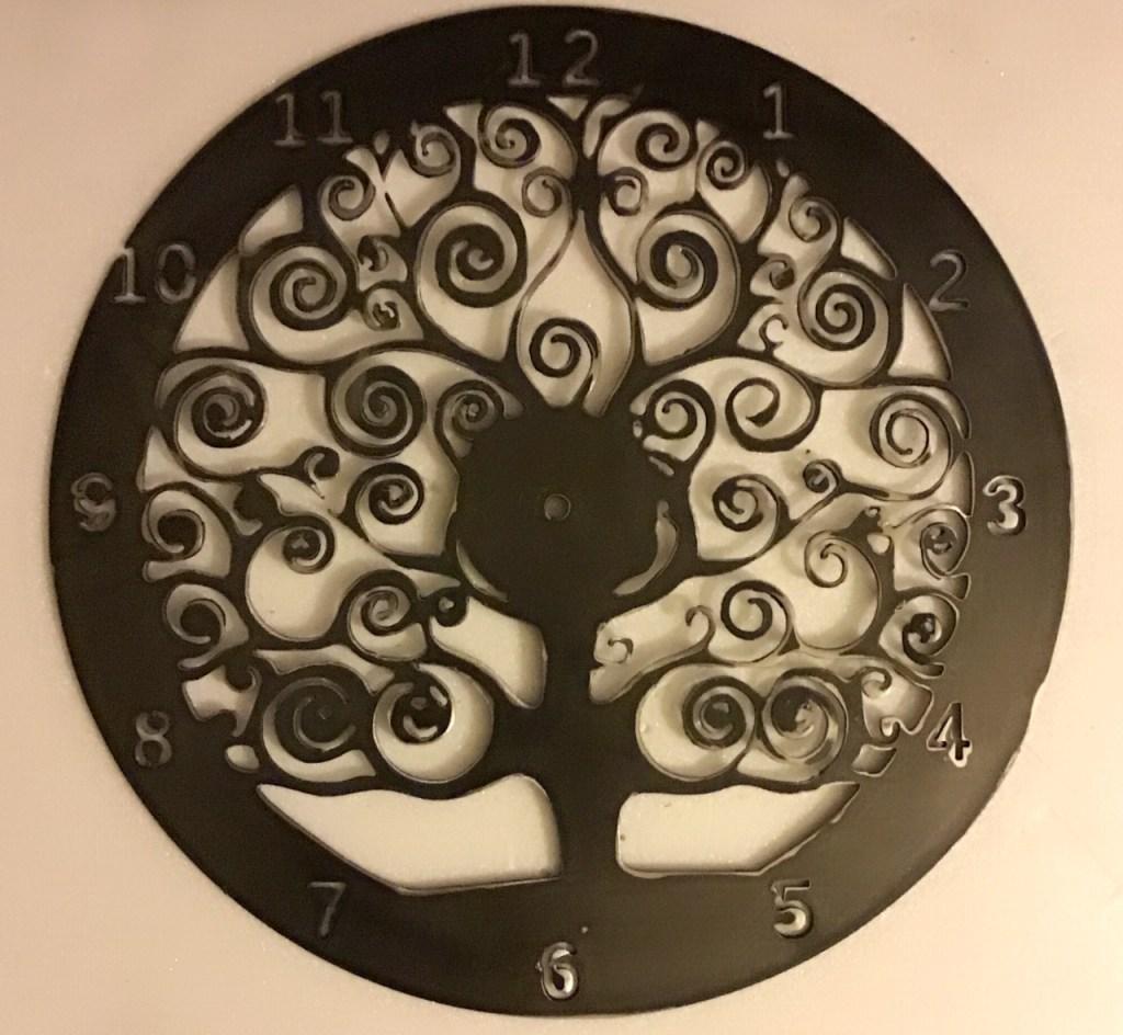 horloge arbre de vie spirale