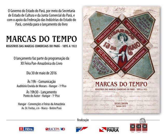 Livro Marcas do Tempo - convite virtual