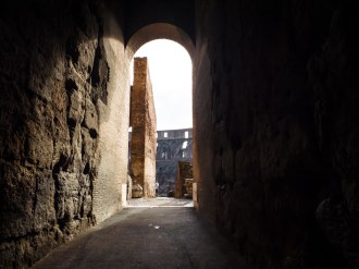"""One of the many entrances to the colosseum """"bleachers"""""""