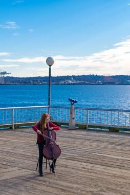 Cellist in a photoshoot Leica M-P / Summilux 50mm