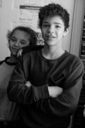 "Carline's ""grand"" niece and nephew: Alyssa and Gabriel"