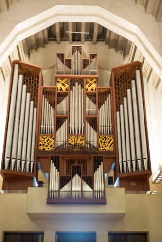 Closeup of the organ at St. Joseph
