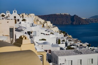 Oia, Santorini, Greece - View towards the south