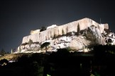 Parthenon at Night - The view from our hotel room balcony