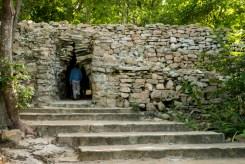 Exiting Tulum ruins