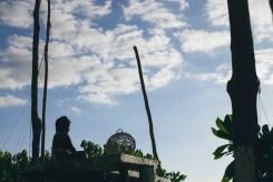 Budda on the restaurant platform watching the sunrise (Hotel Zulum)
