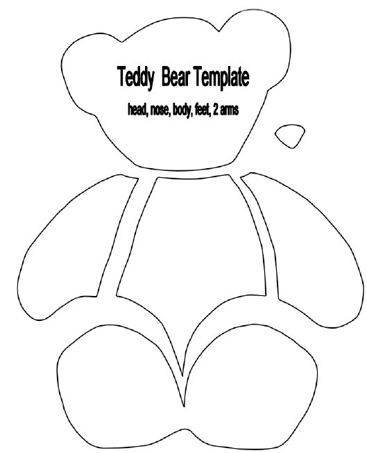 photo regarding Teddy Bear Template Printable identify Go through Template Printable. identical photos undertake mask
