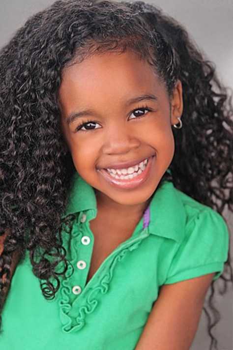 Curled Braided Hairstyles for Little Black Girls