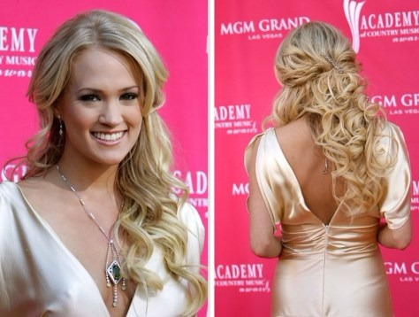 Formal Half up Long Curly Hairstyles images