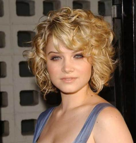 Funky Curly Short Messy Hairstyle for Women