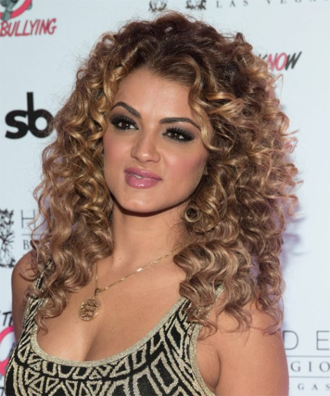 Golnesa Gharachedaghi Long Curly Hairstyle
