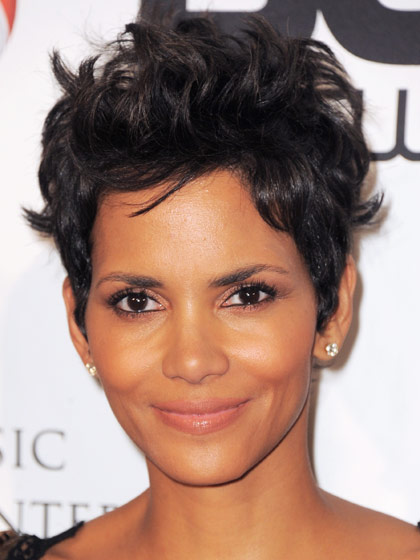 Halle Berry curly haircut