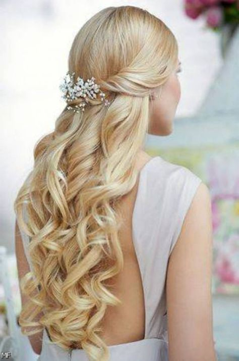 Homecoming Hairstyles Half Up Curly With Braid