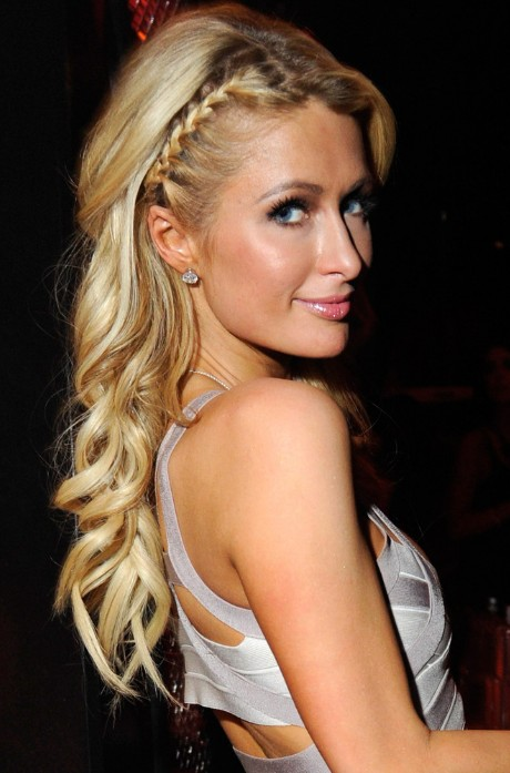 Paris Hilton Braided Hairstyle for Long Hair