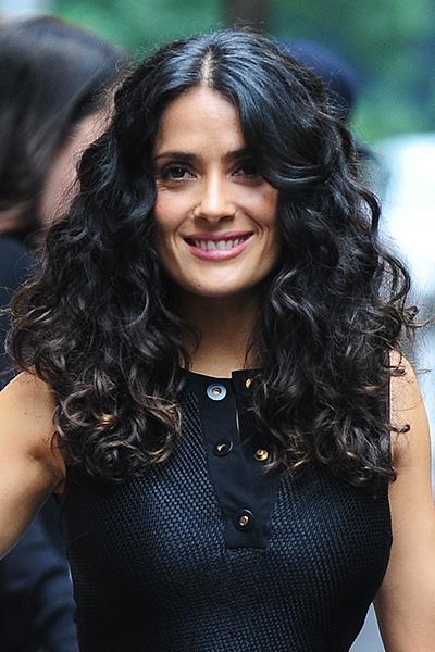 Salma Hayek curly hair
