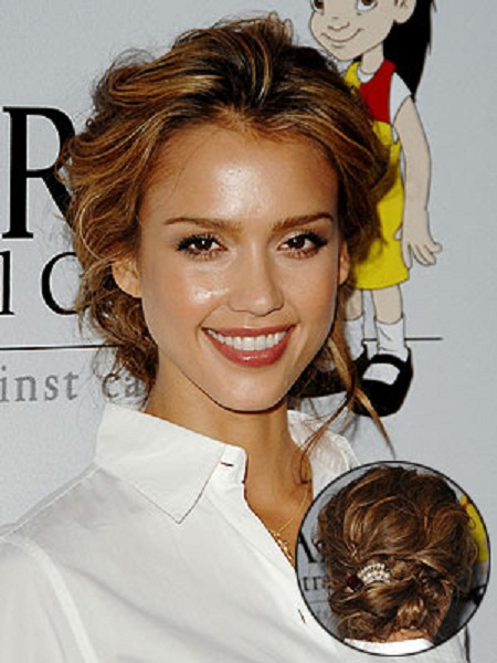 easy hairstyles for long curly hair for work