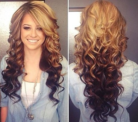 long curly ombre hair tumblr