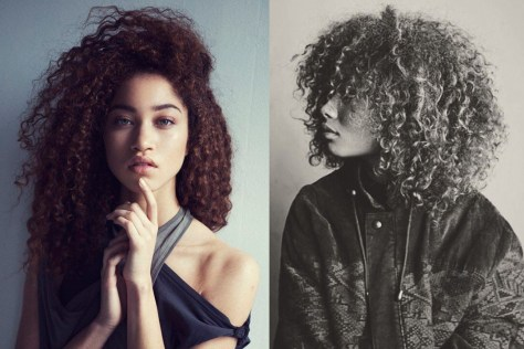 mixed curly hair images
