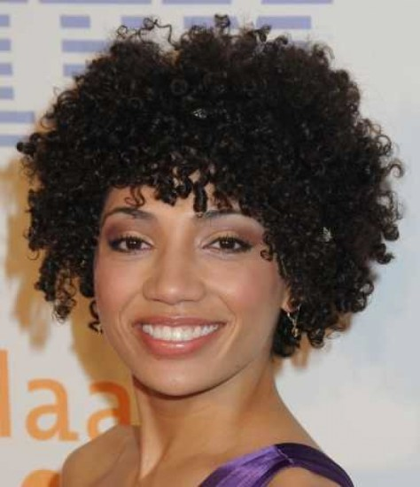 short natural curly hairstyles..
