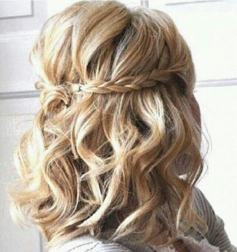 Braided Waterfall Hairstyle Braided Short Curly Hairstyle