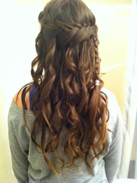 Curly Hairstyles with Braids..