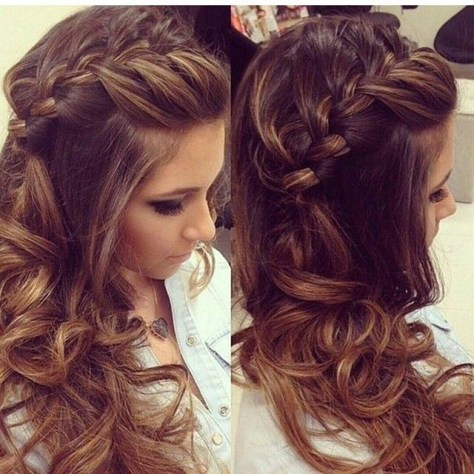 hairstyles with braids and curly hair