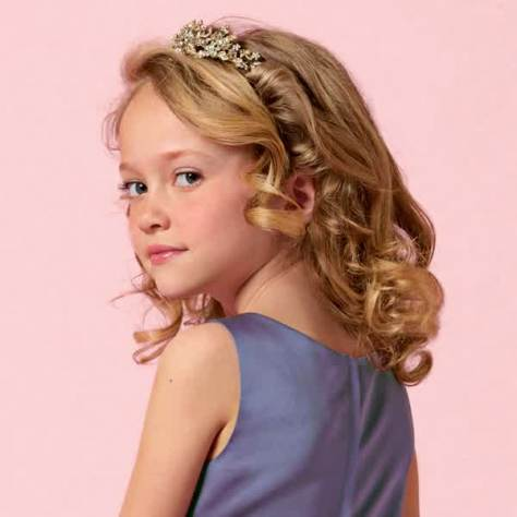 Trendy Curly Kids Hairstyles For Girls..