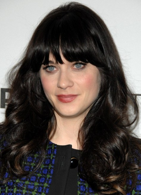 Zooey Deschanel Long Hairstyle