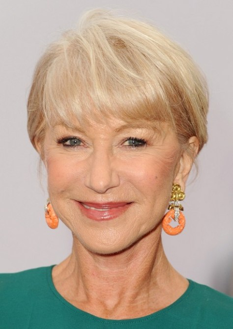 Helen Mirren rövid hajvágás 2015-re
